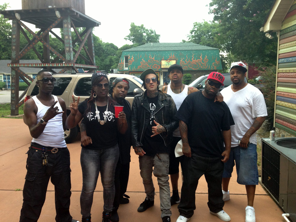 Da Mafia 6ix Posing with Yellawolf